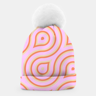 Pink and orange line art Beanie thumbnail image