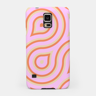 Pink and orange line art Samsung Case thumbnail image