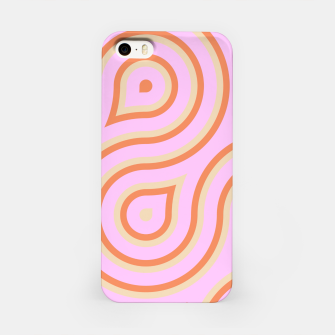 Pink and orange line art iPhone Case thumbnail image