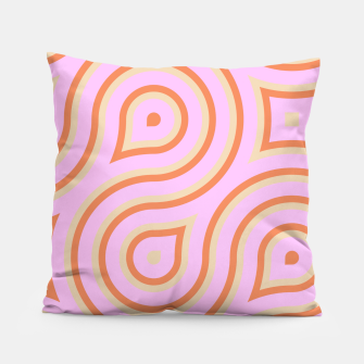 Miniature de image de Pink and orange line art Pillow, Live Heroes