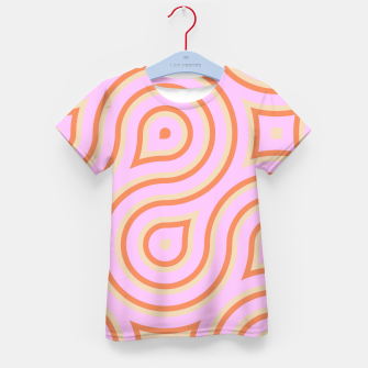 Pink and orange line art Kid's T-shirt thumbnail image