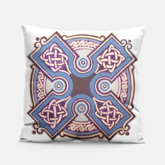Miniatur Blue Ornament Pillow, Live Heroes