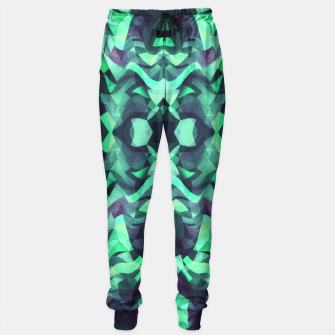 Miniature de image de Abstract Surreal Chaos theory in Modern poison turquoise green Sweatpants, Live Heroes