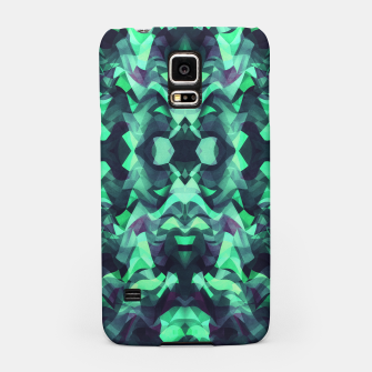 Miniature de image de Abstract Surreal Chaos theory in Modern poison turquoise green Samsung Case, Live Heroes