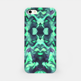 Miniature de image de Abstract Surreal Chaos theory in Modern poison turquoise green iPhone Case, Live Heroes