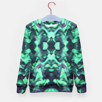 Miniature de image de Abstract Surreal Chaos theory in Modern poison turquoise green Kid's Sweater, Live Heroes