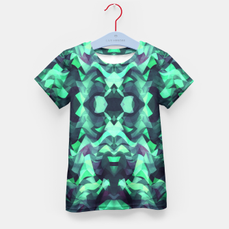 Miniature de image de Abstract Surreal Chaos theory in Modern poison turquoise green Kid's T-shirt, Live Heroes