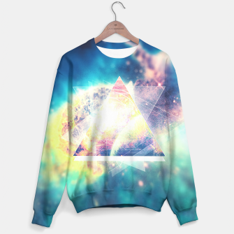 Miniature de image de Awsome collosal deep space triangle art sign Sweater, Live Heroes