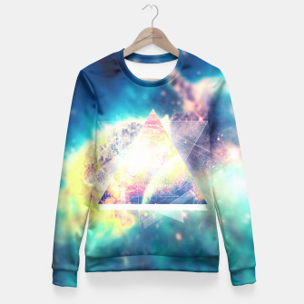 Miniature de image de Awsome collosal deep space triangle art sign Fitted Waist Sweater, Live Heroes