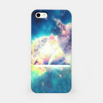 Miniature de image de Awsome collosal deep space triangle art sign iPhone Case, Live Heroes