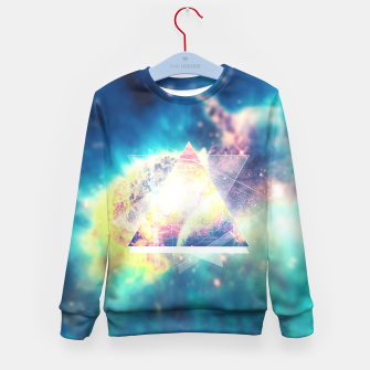 Miniature de image de Awsome collosal deep space triangle art sign Kid's Sweater, Live Heroes