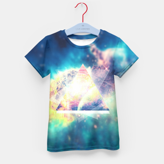 Miniature de image de Awsome collosal deep space triangle art sign Kid's T-shirt, Live Heroes