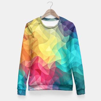 Miniature de image de Abstract Color Wave Flash Fitted Waist Sweater, Live Heroes