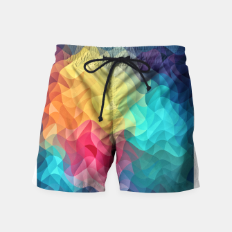 Miniature de image de Abstract Color Wave Flash Swim Shorts, Live Heroes