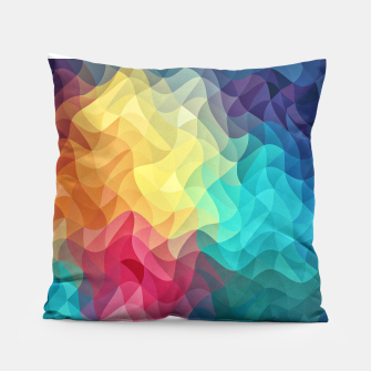 Miniatur Abstract Color Wave Flash Pillow, Live Heroes