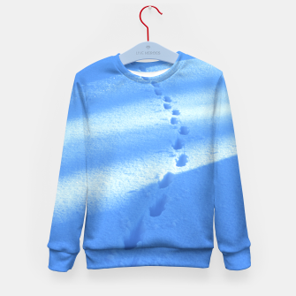Thumbnail image of Tracks-on-the-snow Kid's Sweater, Live Heroes