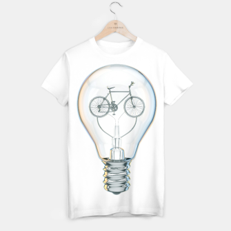 Thumbnail image of Light Bicycle Bulb T-shirt, Live Heroes