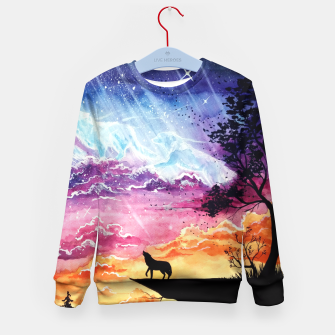 Thumbnail image of Dancing with the sky Kid's Sweater, Live Heroes