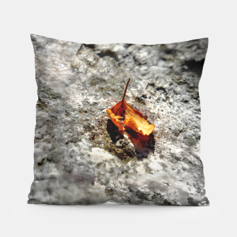 Thumbnail image of LeafOnRock Pillow, Live Heroes