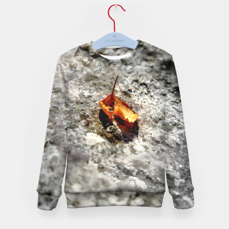Thumbnail image of LeafOnRock Kid's Sweater, Live Heroes
