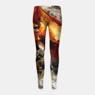 Thumbnail image of LeafOnRock Girl's Leggings, Live Heroes