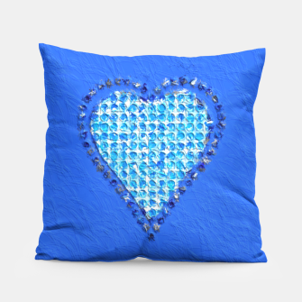 Miniatur The Blue Heart Abstract Painting  Pillow, Live Heroes