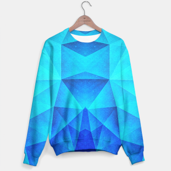 Miniature de image de Abstract Polygon Multi Color Cubizm Painting in ice blue Sweater, Live Heroes