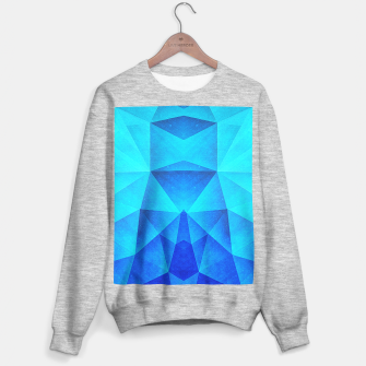 Miniature de image de Abstract Polygon Multi Color Cubizm Painting in ice blue Sweater regular, Live Heroes