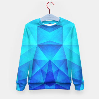 Miniature de image de Abstract Polygon Multi Color Cubizm Painting in ice blue Kid's Sweater, Live Heroes