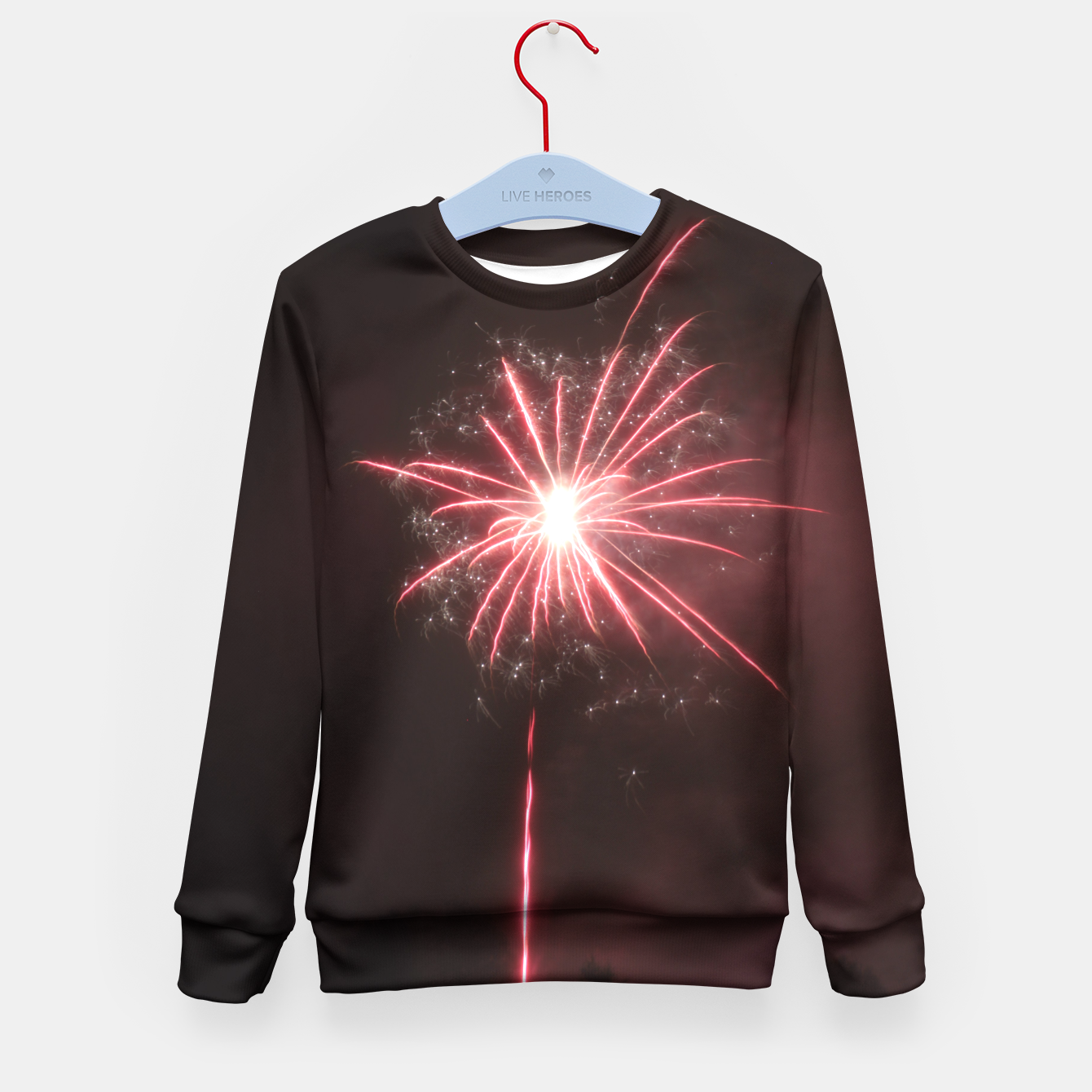 Image of Fireworks Kid's Sweater - Live Heroes