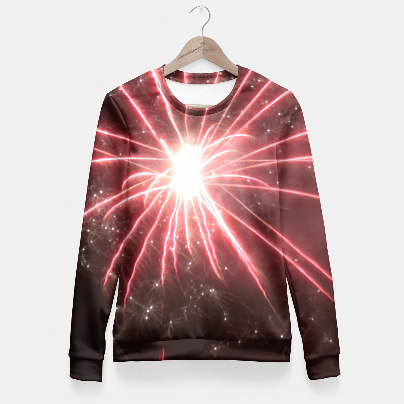 Image of Fireworks Fitted Waist Sweater - Live Heroes