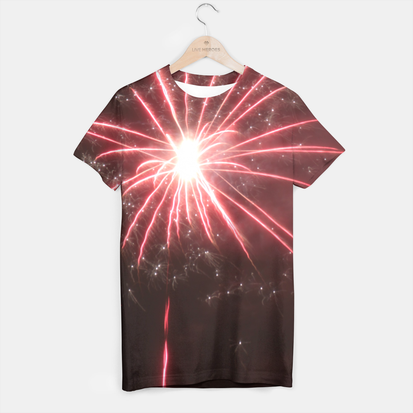 Image of Fireworks T-shirt - Live Heroes