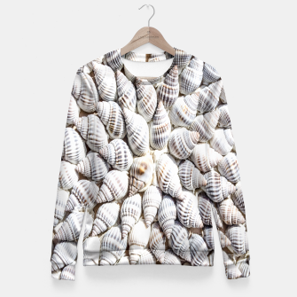 White Seashells pattern Fitted Waist Sweater thumbnail image
