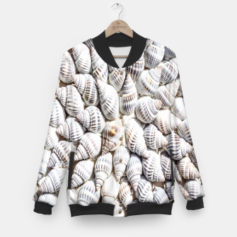 White Seashells pattern Baseball Jacket thumbnail image