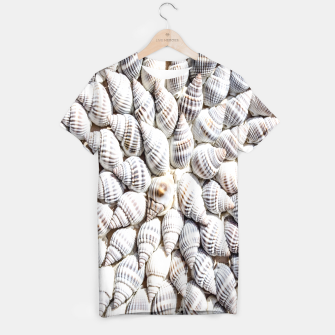 White Seashells pattern T-shirt thumbnail image
