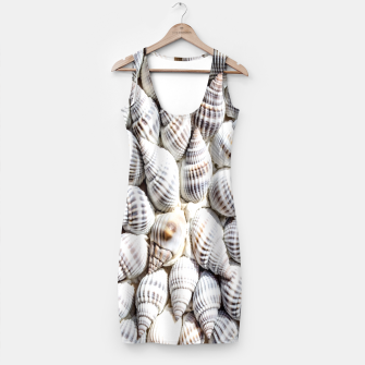 White Seashells pattern Simple Dress thumbnail image