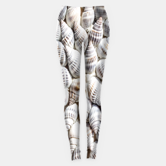 White Seashells pattern Leggings thumbnail image