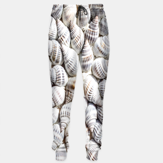White Seashells pattern Sweatpants thumbnail image