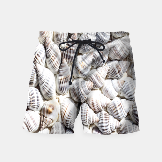 White Seashells pattern Swim Shorts thumbnail image