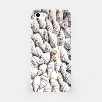 White Seashells pattern iPhone Case thumbnail image