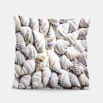 White Seashells pattern Pillow thumbnail image