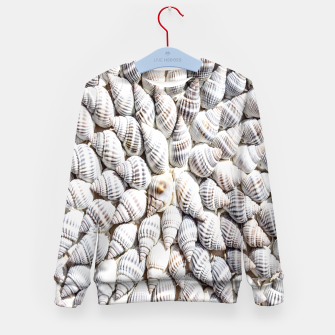 White Seashells pattern Kid's Sweater thumbnail image