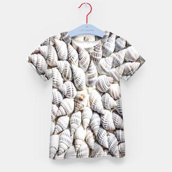 White Seashells pattern Kid's T-shirt thumbnail image