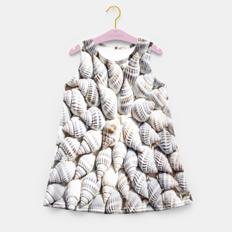 White Seashells pattern Girl's Summer Dress thumbnail image