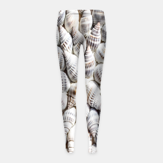White Seashells pattern Girl's Leggings thumbnail image