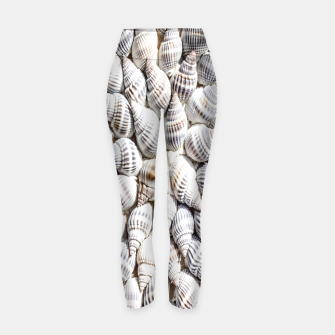 White Seashells pattern Yoga Pants thumbnail image