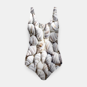 White Seashells pattern Swimsuit thumbnail image