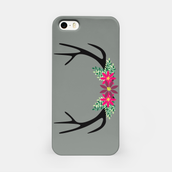 Thumbnail image of Elk Antlers with Flowers iPhone Case, Live Heroes