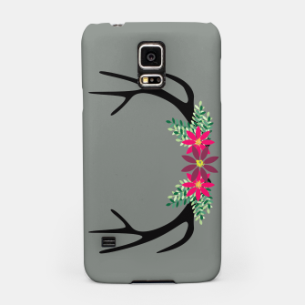 Thumbnail image of Elk Antlers with Flowers Samsung Case, Live Heroes
