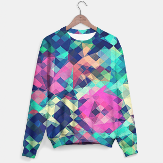 Miniature de image de Fruity Rose - Fancy Colorful Abstraction Pattern Design (green pink blue) Sweater, Live Heroes